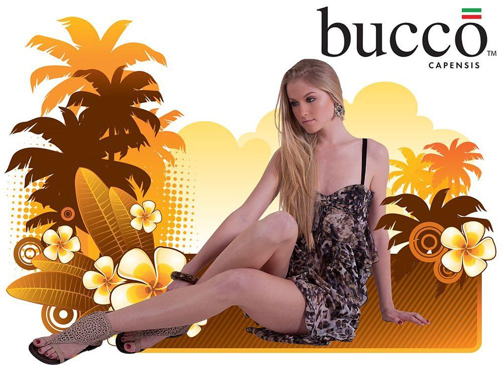 White Wedge Sandals / bucco
